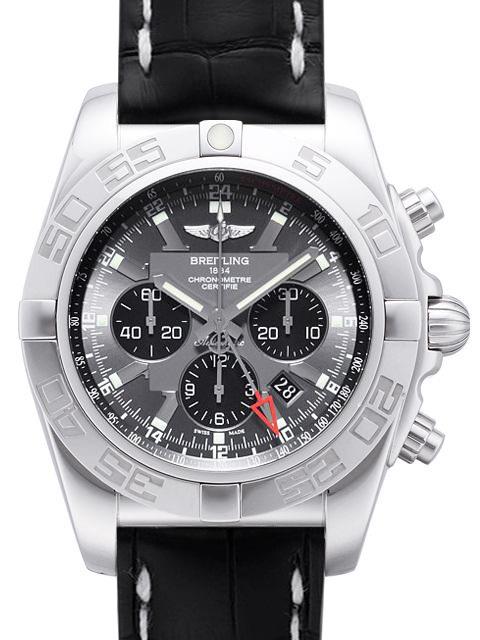 Breitling Chronomat GMT Herrklocka AB041012-F556-760P-A20BA.1 Grå/Läder - Breitling