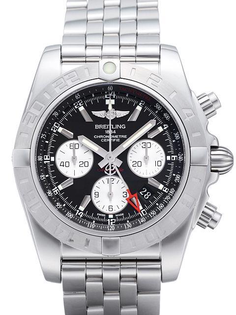 Breitling Chronomat 44 GMT Herrklocka AB042011-BB56-375A Svart/Stål Ø44 - Breitling