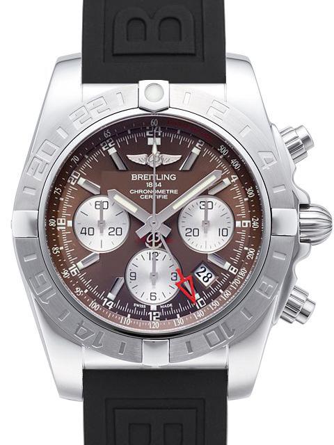 Breitling Chronomat 44 GMT Herrklocka AB042011-Q589-152S-A20S.1 Brun/Gummi - Breitling