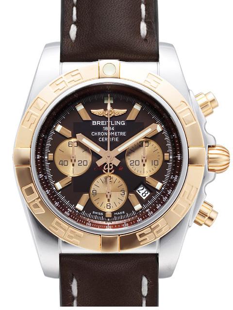 Breitling Chronomat 44 Herrklocka CB011012-Q576-437X-A20BA.1 Brun/Läder - Breitling