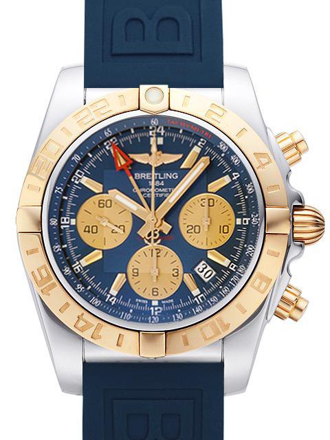 Breitling Chronomat 44 GMT Herrklocka CB042012-C858-158S-A20S.1 Blå/Gummi - Breitling