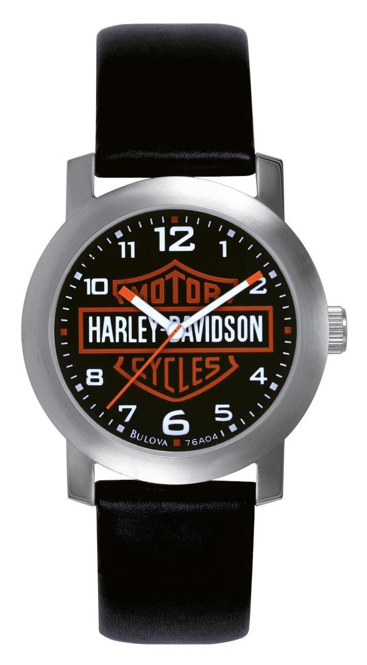 Bulova Harley-Davidson Herrklocka 76A04 Svart/Läder - Bulova