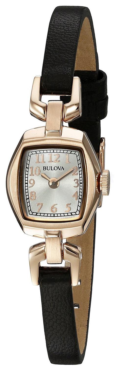 Bulova Dress Damklocka 97L154 Silverfärgad/Läder - Bulova