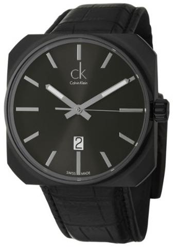 Calvin Klein Dress Herrklocka K1R21430 Svart/Läder 42x42 mm - Calvin Klein