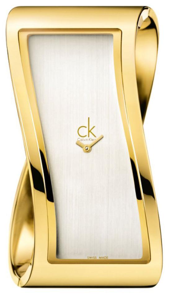 Calvin Klein Pensive Damklocka K1T24501 Silverfärgad/Gulguldtonat stål - Calvin Klein
