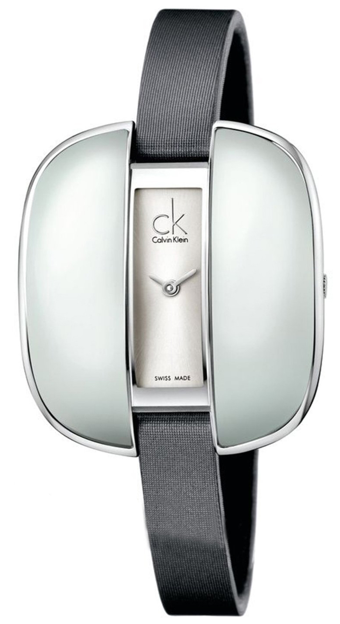 Calvin Klein Basic Damklocka K2E23626 Silverfärgad/Läder - Calvin Klein