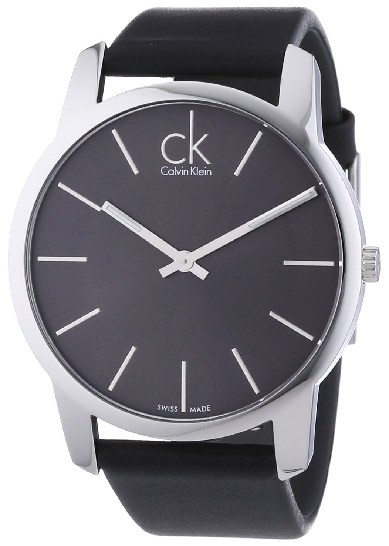 Calvin Klein City Herrklocka K2G21107 Svart/Läder Ø43 mm - Calvin Klein