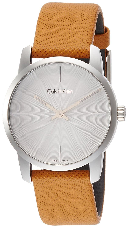 Calvin Klein City Damklocka K2G231G6 Silverfärgad/Läder Ø31 mm - Calvin Klein
