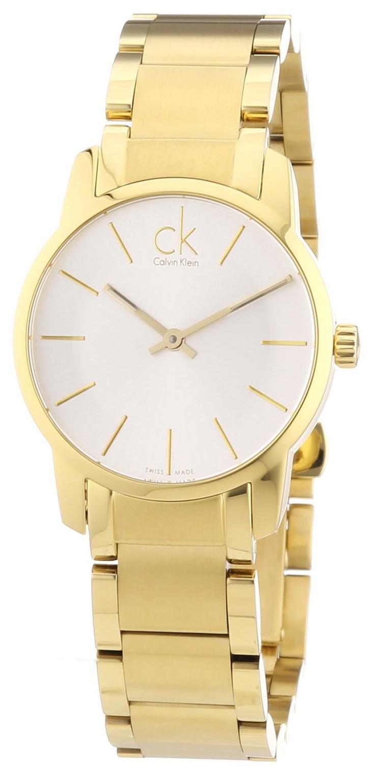 Calvin Klein City Damklocka K2G23546 Silverfärgad/Gulguldtonat stål Ø31 - Calvin Klein