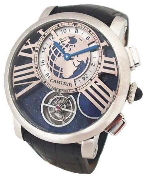 Cartier Rotonde De Cartier Herrklocka W1556222 Blå/Läder Ø47 mm - Cartier