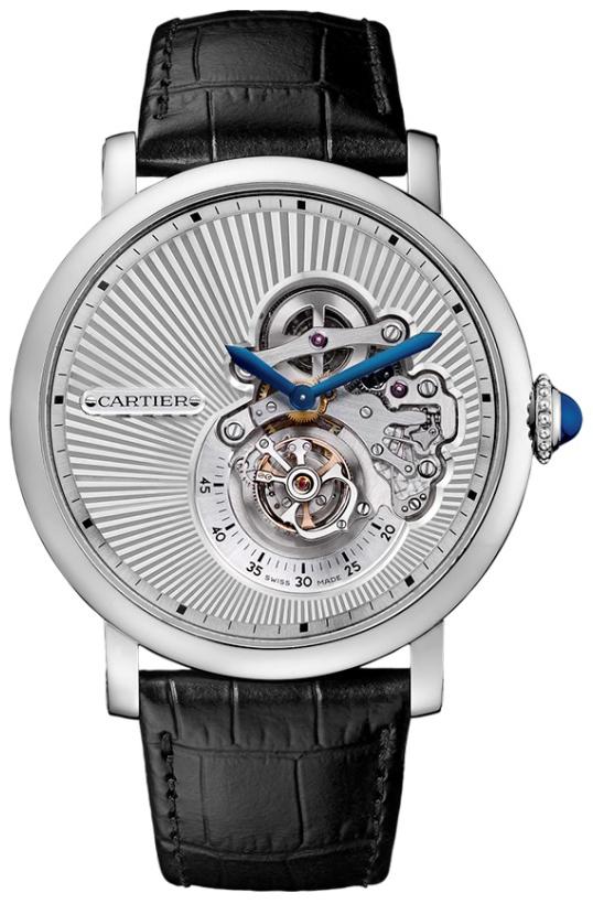 Cartier Rotonde De Cartier Herrklocka W1556246 Silverfärgad/Läder Ø46 mm - Cartier