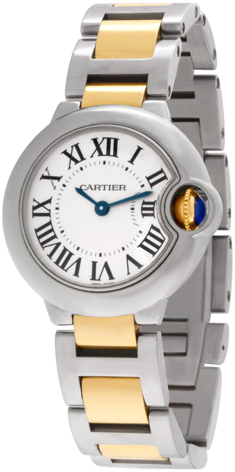 Cartier Ballon Blue Damklocka W2BB0010 Silverfärgad/Gulguldtonat stål - Cartier