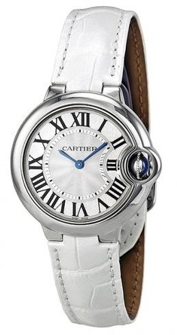 Cartier Ballon Blue Damklocka W6920086 Silverfärgad/Läder Ø33 mm - Cartier