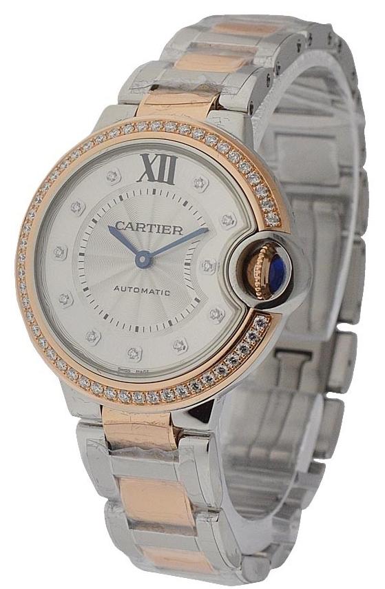 Cartier Ballon Blue Damklocka WE902078 Silverfärgad/18 karat roséguld - Cartier