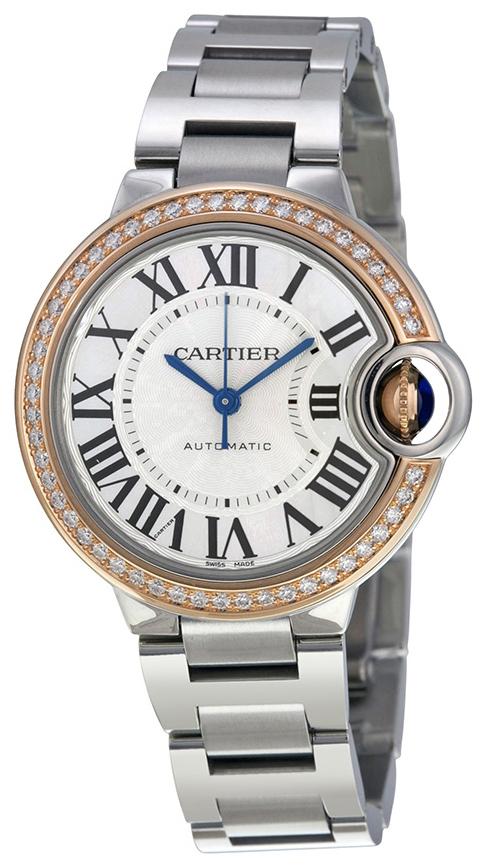 Cartier Ballon Blue Damklocka WE902080 Silverfärgad/Stål Ø33 mm - Cartier