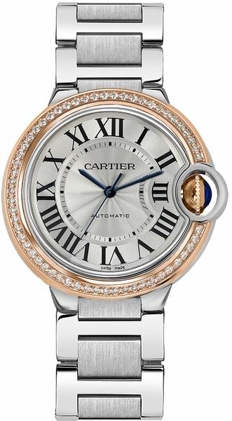 Cartier Ballon Blue Damklocka WE902081 Silverfärgad/Stål Ø36 mm - Cartier