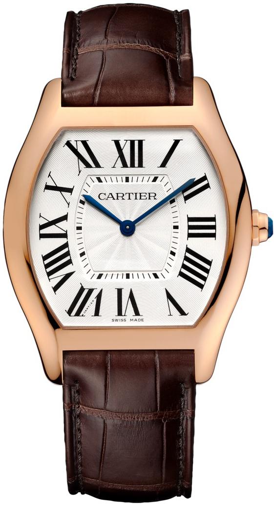 Cartier Tortue Herrklocka WGTO0002 Silverfärgad/Läder - Cartier