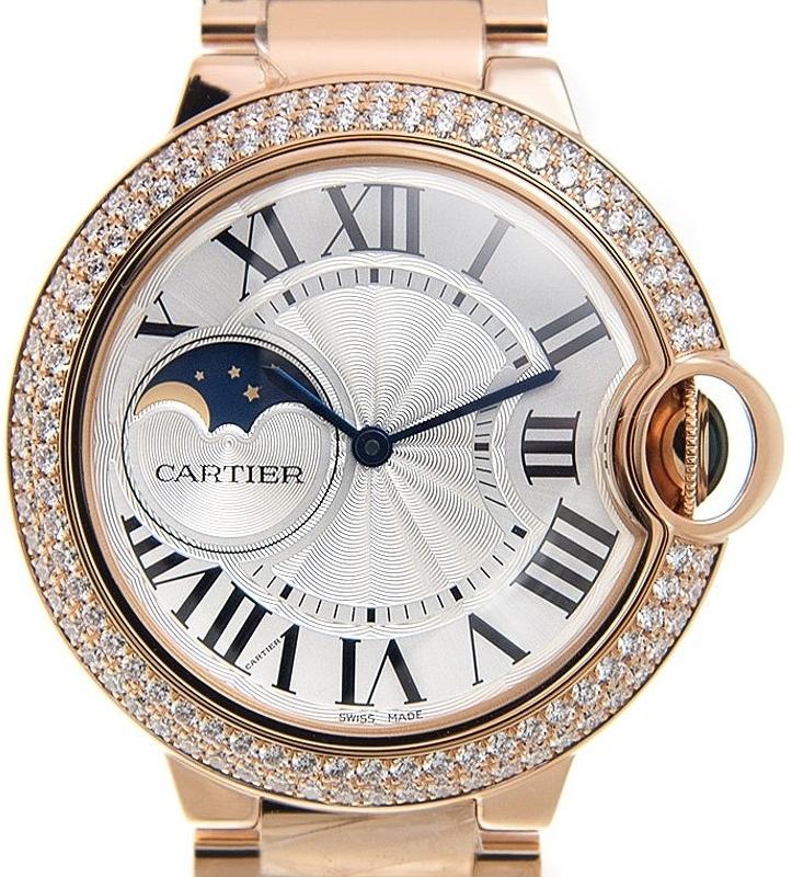 Cartier Ballon Blue Damklocka WJBB0025 Silverfärgad/18 karat roséguld - Cartier
