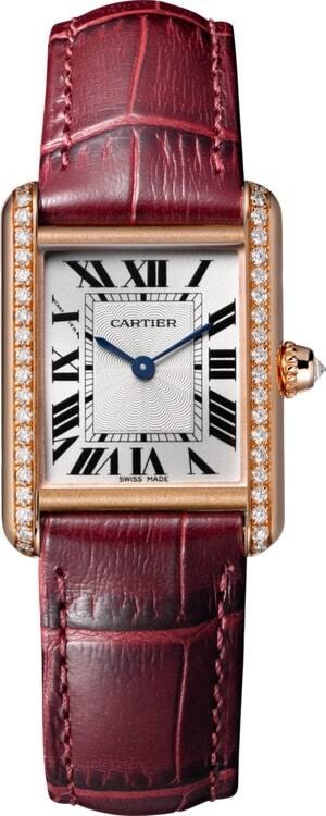 Cartier Tank Louis Damklocka WJTA0014 Silverfärgad/Läder - Cartier