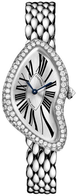 Cartier Crash Damklocka WL420051 Silverfärgad/18 karat vitt guld - Cartier