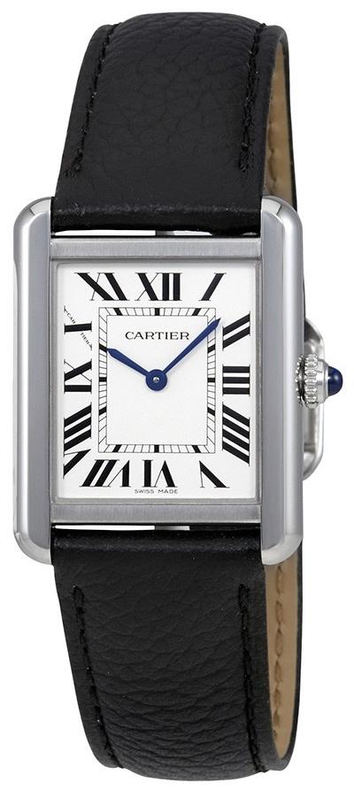 Cartier Tank Solo Damklocka WSTA0030 Silverfärgad/Läder - Cartier