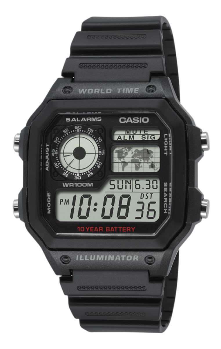 Casio Collection AE-1200WH-1AVEF LCD/Resinplast - Casio