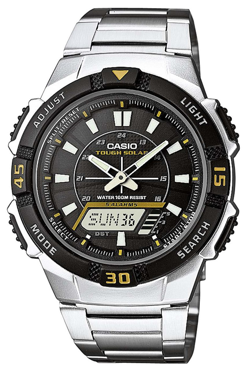 Casio Casio Collection Herrklocka AQ-S800WD-1EVEF Svart/Stål Ø42 mm - Casio