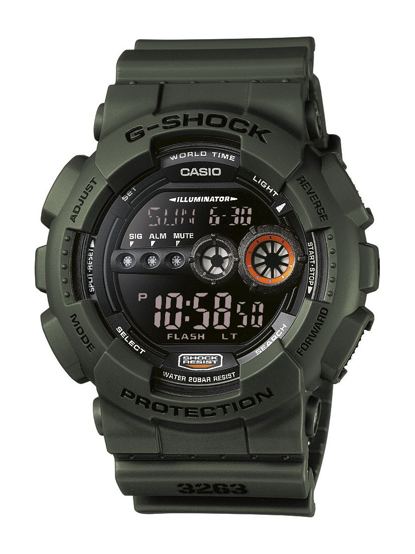 Casio G-Shock Herrklocka GD-100MS-3ER Svart/Resinplast Ø51.2 mm - Casio