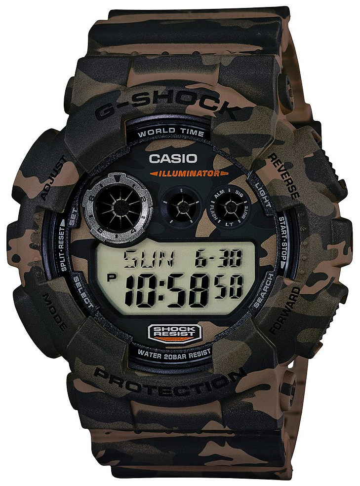 Casio G-Shock Herrklocka GD-120CM-5ER LCD/Resinplast Ø51.2 mm - Casio