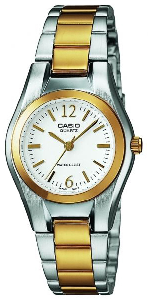 Casio Casio Collection Damklocka LTP-1280PSG-7AEF Vit/Gulguldtonat stål - Casio