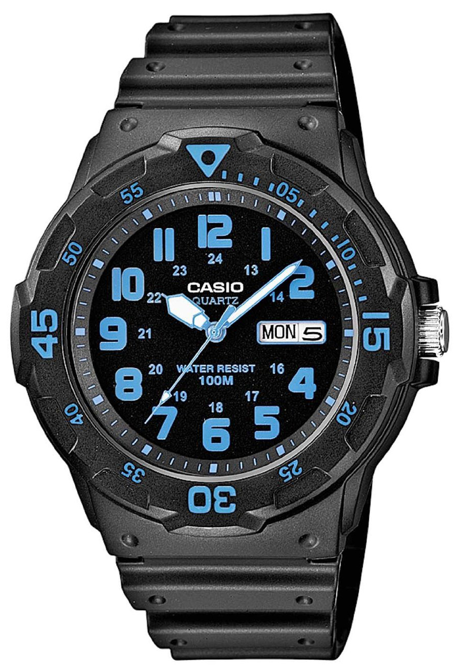 Casio Casio Collection Herrklocka MRW-200H-2BVEF Svart/Resinplast Ø44.6 mm - Casio