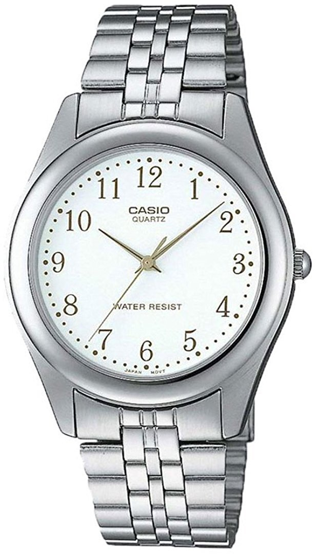 Casio Collection Herrklocka MTP-1129PA-7BEF Vit/Stål Ø43 mm - Casio