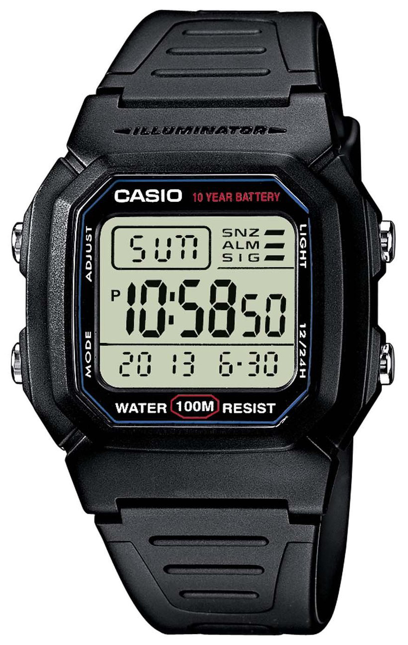 Casio Casio Collection Herrklocka W-800H-1AVES Resinplast 44.2x36.8 mm - Casio