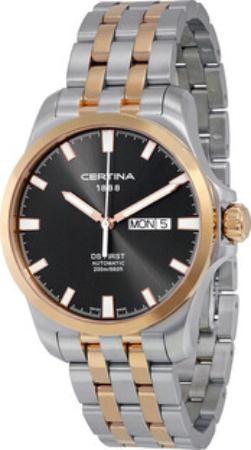 Certina DS First Herrklocka C014.407.22.081.00 Svart/Gulguldtonat stål - Certina