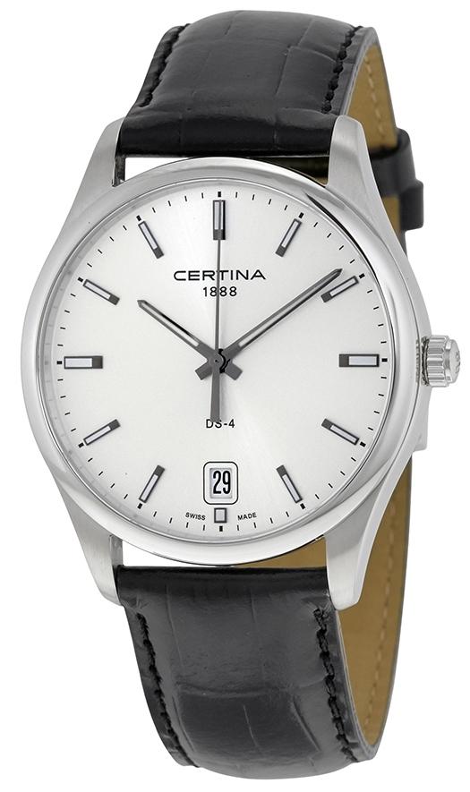 Certina DS 4 Herrklocka C022.610.16.031.00 Silverfärgad/Läder Ø40 mm - Certina