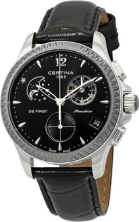 Certina DS First Lady Damklocka C030.250.16.056.00 Svart/Läder Ø38 mm - Certina
