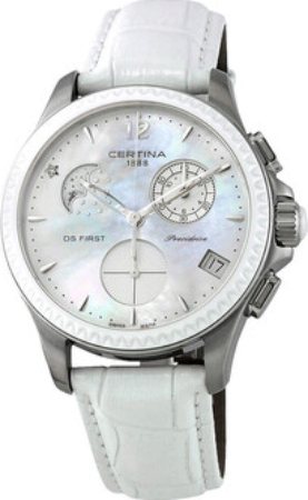 Certina DS First Lady Damklocka C030.250.16.106.00 Vit/Läder Ø38 mm - Certina