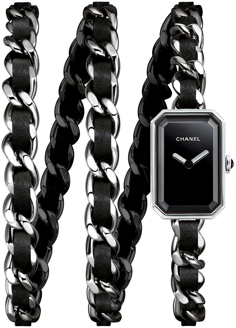 Chanel Premiere Damklocka H3749 Svart/Stål - Chanel