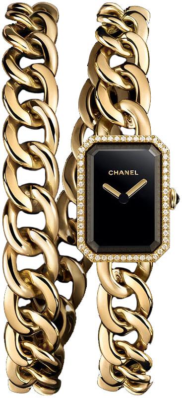 Chanel Premiere Damklocka H3750 Svart/18 karat gult guld - Chanel