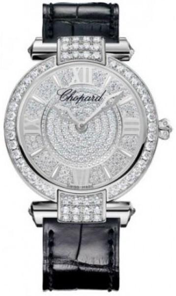 Chopard Imperiale Damklocka 384242-1001 Diamantinfattad/Läder Ø36 mm - Chopard
