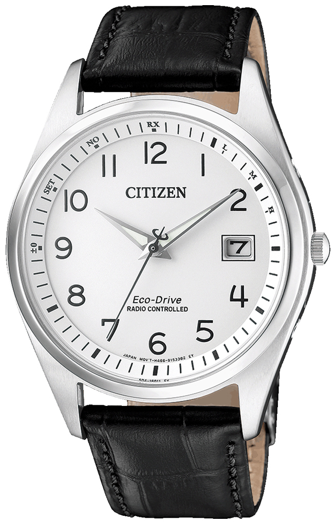 Citizen Radio Controlled Herrklocka AS2050-10A Silverfärgad/Läder Ø39 mm - Citizen