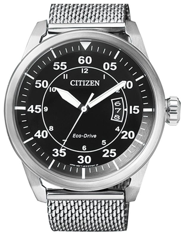 Citizen Dress Herrklocka AW1360-55E Svart/Stål Ø45 mm - Citizen