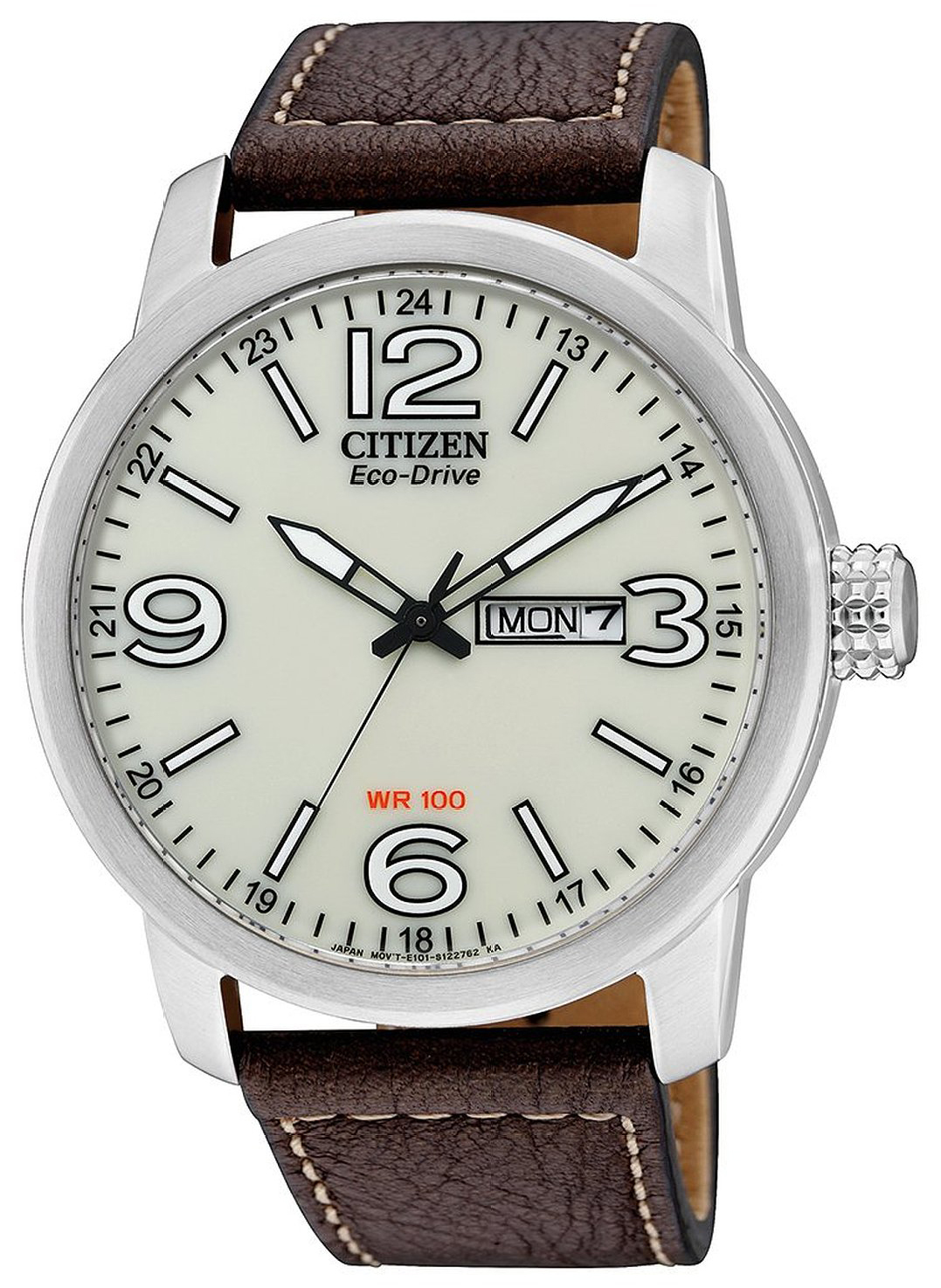 Citizen Eco Drive 180 Herrklocka BM8470-03A Vit/Läder Ø42 mm - Citizen