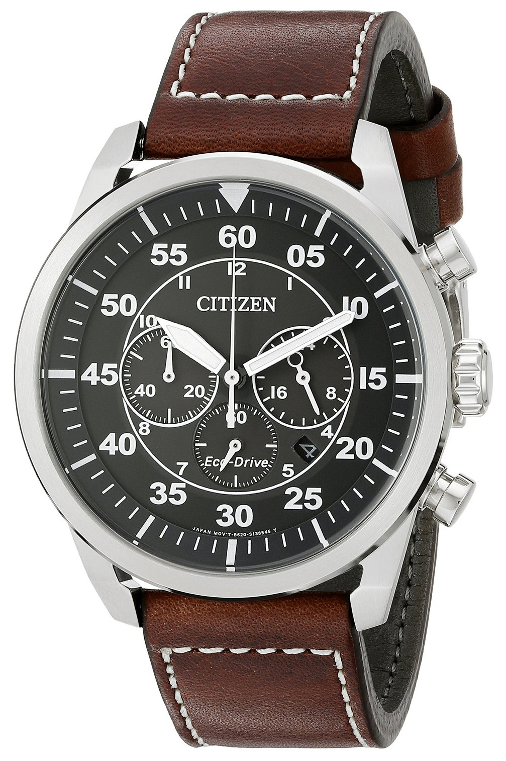 Citizen Leather Herrklocka CA4210-24E Svart/Läder Ø45 mm - Citizen