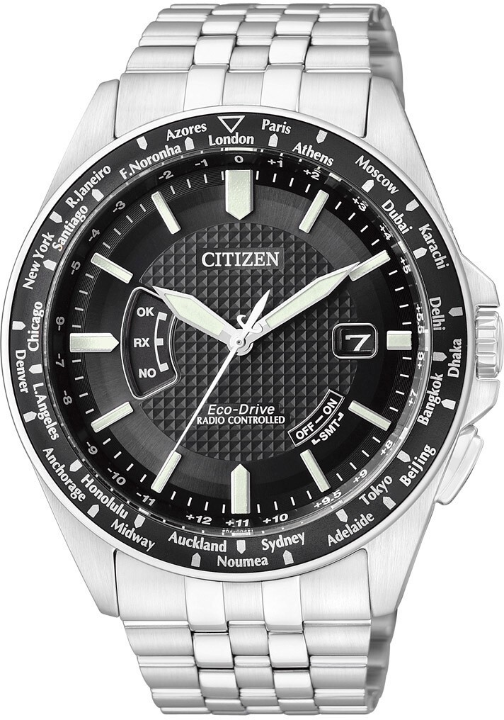 Citizen Radio Controlled Promaster Land Herrklocka CB0021-57E Svart/Stål - Citizen