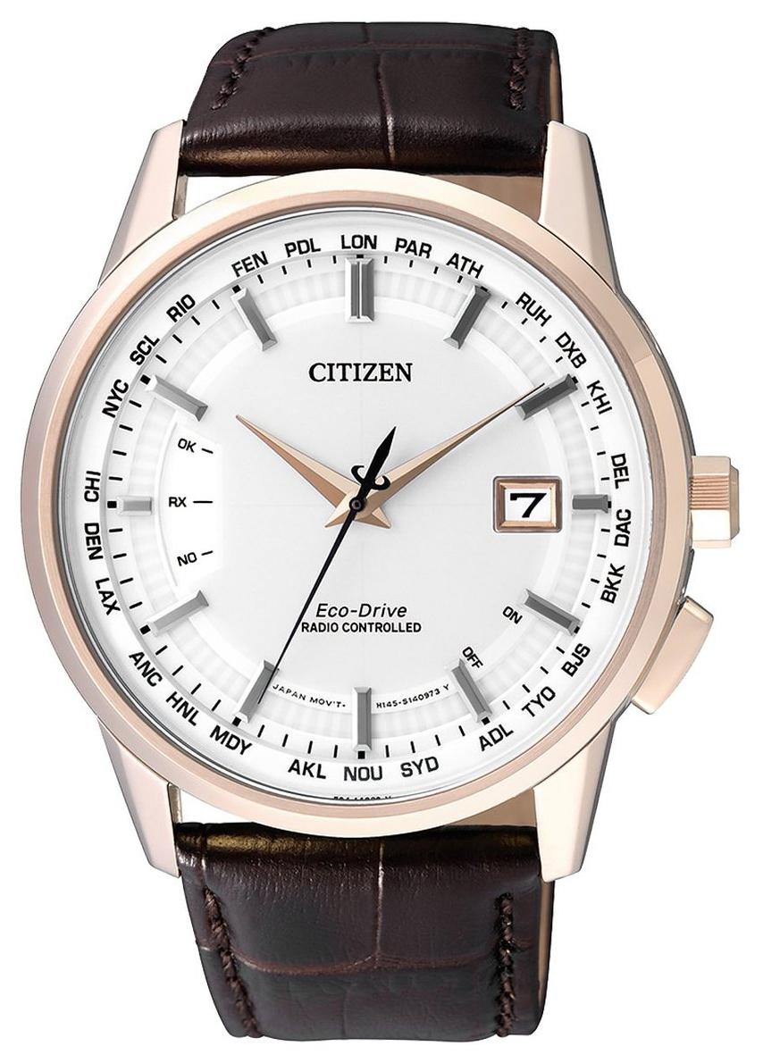 Citizen Radio Controlled Herrklocka CB0153-21A Vit/Läder Ø43 mm
