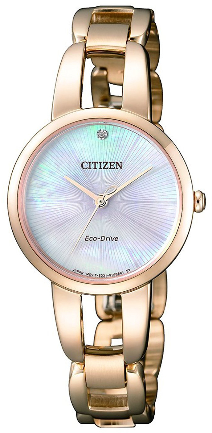 Citizen Dress Damklocka EM0433-87D Silverfärgad/Gulguldtonat stål Ø29 mm - Citizen
