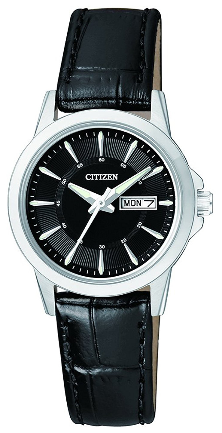 Citizen Leather Damklocka EQ0601-03E Svart/Läder Ø28 mm - Citizen