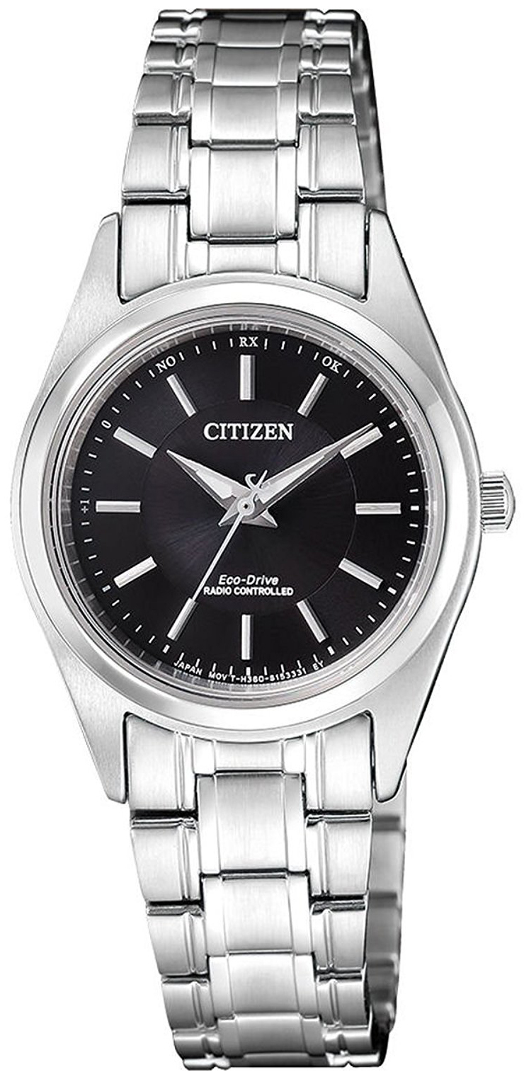Citizen Radio Controlled Damklocka ES4030-84E Svart/Stål Ø27.3 mm - Citizen