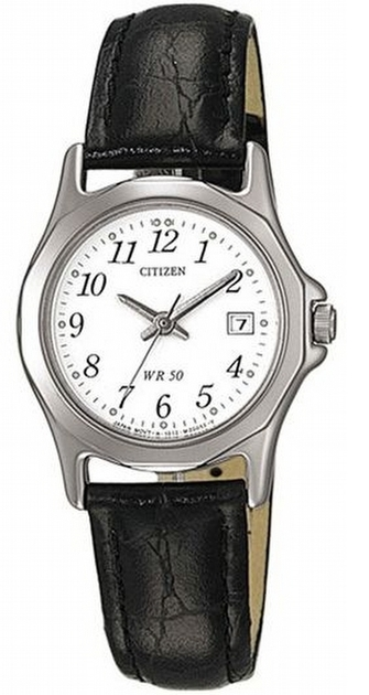 Citizen Leather Damklocka EU1950-04A Vit/Läder Ø28 mm - Citizen